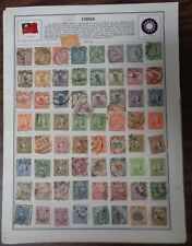 CHINA early stamp collection on Harris Album pages
