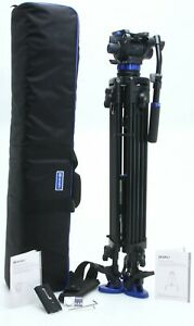 Benro Tripod S7 A573T Dual Stage Fluid QR video head & case tested NICE 390627