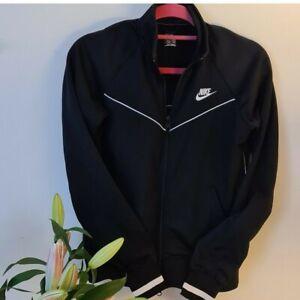 Classic 90s black sport zipper jacket, Nike size L uk 12 14