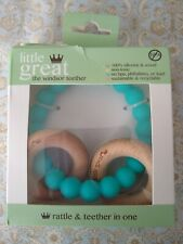 Little Great Winsor Teether Rattle Turquoise for Baby New in Package