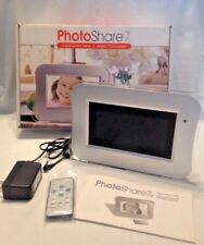 PHOTO SHARE 7 Digital Photo Frame with Remote, Instruction, Stand & Original Box