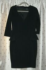 Jane Norman ~ Smart Black Dress With Stretch ~ Size 14