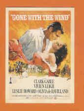 Clark Gable Vivien Leigh GONE WITH THE WIND movie promo postcard Nice Framed SI2