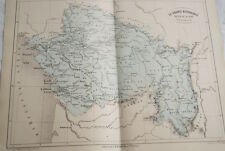 CARTE ANCIENNE  FRANCE BASSIN DE LALOIRE CHARENTE 1865 ATLAS BOUILLET R653