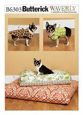 Butterick B6303 PATRÓN DE WAVERLY Chaleco de perro, Abrigo, Y Cama En 2 Tallas S-XL BN