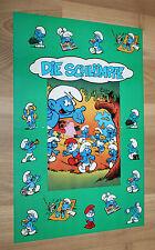The Smurfs (1994 video game) rare German Retro Poster 42x28cm Game Boy SNES NES