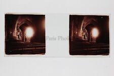 intérieur d'une église Photo Amateur Plaque de verre stereo Positif Vintage