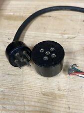 More details for bulgin 4 pin plug + socket - valve socket layout - sp19
