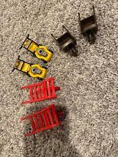 Playmobil Brown Red Wheelbarrow Cart Farm Work Ranch Gold Mine Yellow Lawn Mower