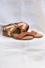 Clarks Soft Wear size UK 6.5 Tan and cream leather Sandals VGC