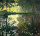 The Pond At Montgeron by Claude Monet, Giclee Canvas Print, various sizes