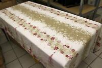 Weihnachts Tischdecke Chemin de Table 2,47 x 1,47 m rot weiß braun