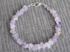 Semi Precious Stone Lilac Amethyst Bracelet  (bz9)