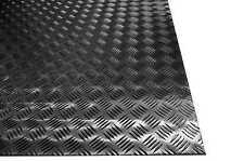 Lamiera Mandorlata Alluminio Spessore:2 mm. Dim. 500X2000 mm. Lega 1050 H24