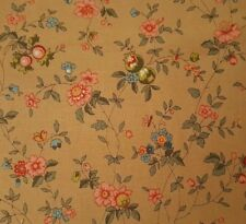 Essex BTY Antiquities Quilting Treasures Delicate Floral Blue Pink Tan