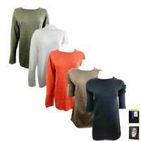 Women's Ex H&M 100% Cotton Light weight Knitted Quality Spring Jumper Linen Tops