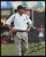 Gary Barnett Signed 8x10 Photo College NCAA Football Coach Autographed