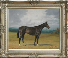 "Old Master Oil Painting Art Antique Portrait A Light Bay Hunter Horse 30""x40"""