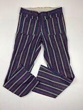 Vtg 70's Lee Fastback Pants Sz 30x31 Multi Color Talon Zipper Vintage 1970's