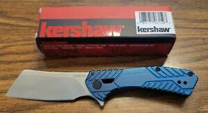 Kershaw Blue Static Folding Pocket Clever Knife w/Flipper & Ball Bearing 3445BLU