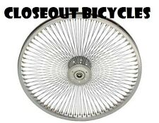 "LOW RIDER LOWRIDER BIKE TRICYCLE REAR  20"" 144 Spoke Hollow-Hub Wheel 14G Chrome"