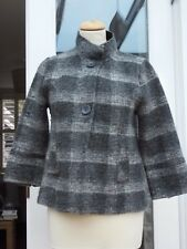 Next Wool Grey and White Jacket size 12