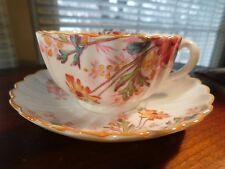 Vintage Spode Copelands Chelsea Garden Fluted Tea Cup Saucer