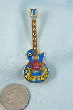 HARD ROCK CAFE PIN NAGOYA BLUE AND GOLD GUITAR