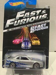 Hot Wheels 2 Fast 2 Furious Nissan Skyline GTR R34 ULTRA RARE 2013 Set 3/8 XHTF