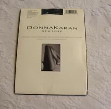 Donna Karan Women's Opaque Satin Control Top Pantyhose SV3 Midnight Navy Medium