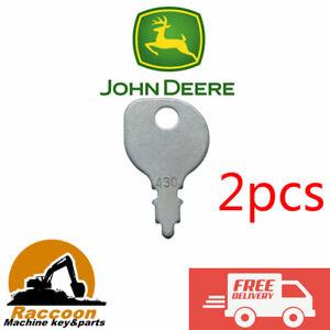 2pcs John Deere Honda Indak Kubota Murray MTD Polaris Toro Westwood Mower Keys