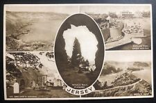 1943 Occupied Jersey England Channel Island Rppc Postcard Cover Fdc Needle Rock