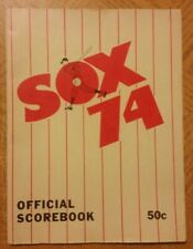 1974 Chicago White Sox Official Scorebook