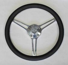 "Chevelle Nova Camaro Impala 14 3/4"" Leather on Billet Steering Wheel Bowtie Cap"