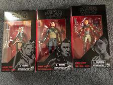 Star Wars Black Series Rebels lot Ahsoka Tano Sabine Wren Kanan Jarrus IN BOX