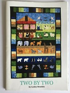 """Patchwork pattern book """"Two by Two"""" By Lesley Brankin, Noah's ark quilt"""