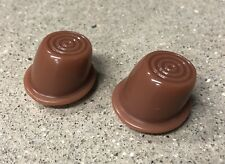 1946-1951 Willys Jeep Wagon Delivery Truck Interior Door Button pair, New BROWN
