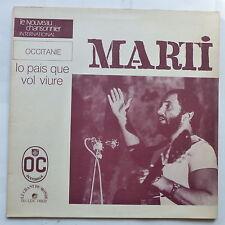 Occitanie MARTI Lo pais que vol viure GU LDX 74502