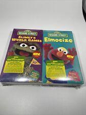 SEALED Sesame Street Elmo Elmocize VHS Video Tape Elmo's Oscar Slimey's World