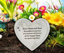 Graveside Memorial , Dear Mum and Dad , Heart Shape, Grave Decoration.