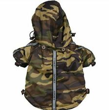 Pet Life Reflective Dog Raincoat/Windbreaker Camouflage Dog Jacket - Size Medium