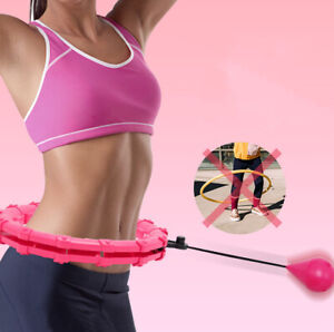 Weighted hula hoop Fitness Waist Abs Exercise Gym Workout Body build Adjusted US
