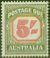 Australia 1953 5s Carmine & Green SGD131 Fine Lightly Mtd Mint