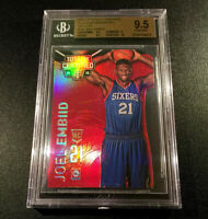 JOEL EMBIID 2014 PANINI CERTIFIED PLATINUM MIRROR RED DIE CUT /135 RC BGS 9.5 10