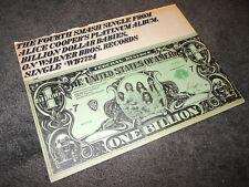 ALICE COOPER Billion Dollar Babies BILLBOARD 11x14 Ad Poster