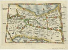 Antique Map of Persia by Fries (1535)