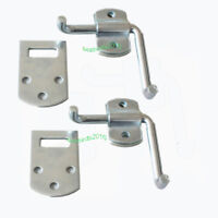 2 Corner Latch Bracket Set Utility Trailer Wood Security Rack Stake Body Gate