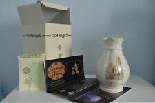 Hand-crafted Irish Donegal Parian china vase with box & papers, Guildhall, Derry