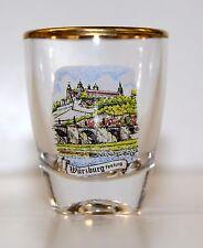 Gold Rim Shot Glass -   Würzburg - Festung Marienberg ( Germany )