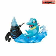 RE-MENT Pokemon Desktop Figure 3 Desk de Oyakudachi Totodile Aqua Tail Cord Reel